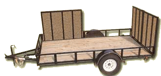 atv-trailer with rear and side gate