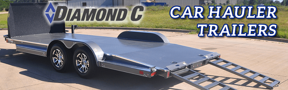 Diamond C - Car Hauler Trailers - Diamond plate
